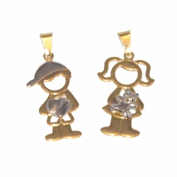 1-2200-D1 My Children 2 tone Pendant