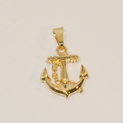 1-2218-e6 Anchor with Rope Pendant. 1""