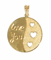 1-2237-D2 Love You Charm with Hearts