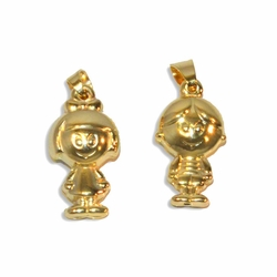 "1-2246-e9 Gold Plated ""My Children"" Charm Pendant. 1""."