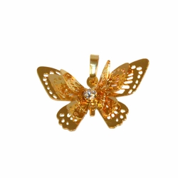 """1-2261-f1 Gold Plated Butterfly pendant, 1"""", 28mm,"""