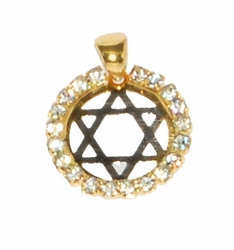 1-2262-D3 Star of David with Stone