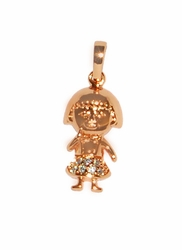 1-2269-D1 Rose Gold GIRL Charm