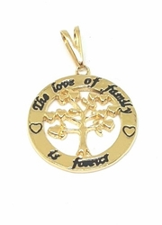 1-2276-f5 18kt Brazilian Gold Plated Tree of Life Family Pendant