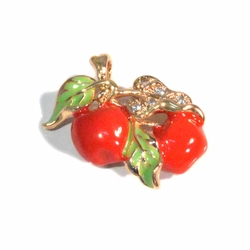 1-2300-f212 18kt Gold Plated Cherry Pendant.