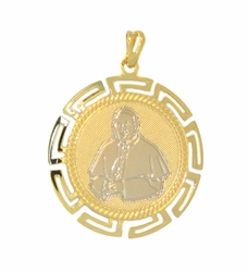 1-2315-D1 Two Tone Pope Pendant