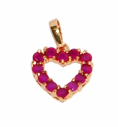 1-2353-D1 Ruby Red Heart Charm