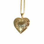 1-2425-1769-f2 18kt Brazilian Gold Layered Heart Locket with Curblink Chain,