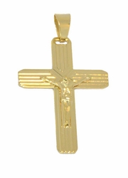 1-2435-D1 Mens Crucifix Pendant