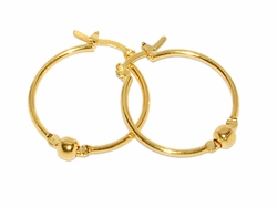 1-2563-D1 24mm Beaded Hoops