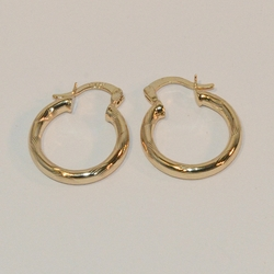1-2571-e6 Classic Hoop Earrings with Etched Design. 3.5mm wide, 20mm diameter.