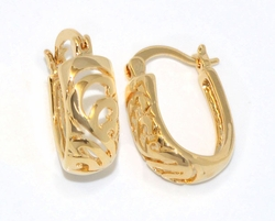 1-2583-D1 Wide Design Hoop Earrings