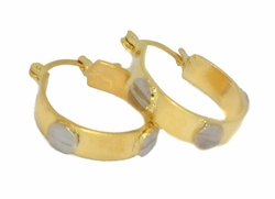 1-2584-D1 Two Tone Hoops