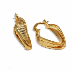 1-2605-e8 Gold Plated Triple Hoops. 8x20mm.