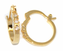1-2613-D1 CZ Hoop Earrings