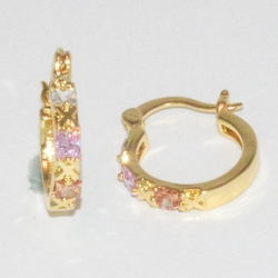 1-2633-e1 Pink and White CZ Hoops