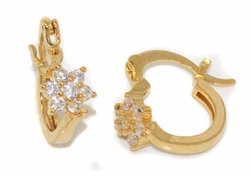 1-2641-D1-TOP CZ Flower Design Hoops
