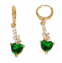 1-2683-D3 Green CZ Fancy Earrings