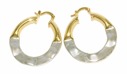 1-2692-D4 Two Tone Painted Art Hoops