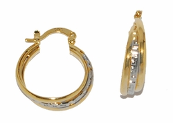 1-2694-D1 Two Tone Triple Hoops