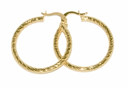 1-2696-D2 32mm Diamond Cut Hoops