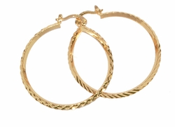 1-2696-D5 40mm Diamond Cut Hoops