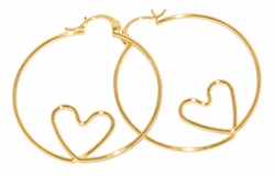 1-2715-D3 38mm Heart Hoops