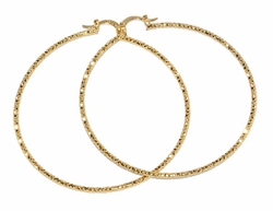 1-2717-D2 63mm Diamond Cut Hoops