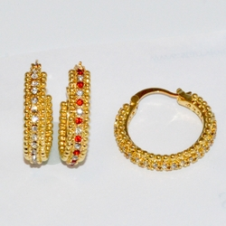 1-2718-D1 CZ Hoop Earrings