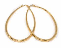 1-2721-D1 Large Oval Diamond Cut Hoops