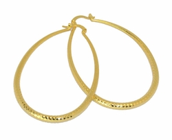 1-2721-D2 Drop Hoop Earrings