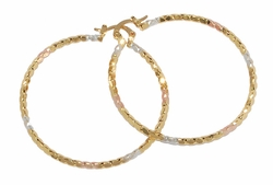 1-2723-D2 50mm Three Tone Hoops