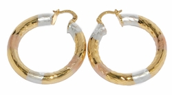1-2724-D2 Three Tone Hoops