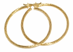 1-2727-D2 50mm Diamond Cut Hoops
