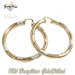 1-2744-C11 Ladies Large Hoop Earrings