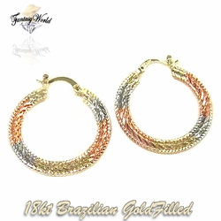 1-2731-C2 Diamond Cut Hoop Earrings
