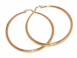 1-2732-D1 70mm Diamond Cut Hoops