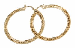 1-2733-D2 Diamond Cut Hoops