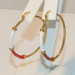 1-2734-e4 Ladies Colored Hoops 4x40mm (2 color available)