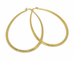 1-2736-D1 Drop Hoop Earrings