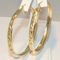 1-2738-e3 Diamond Cut Hoops