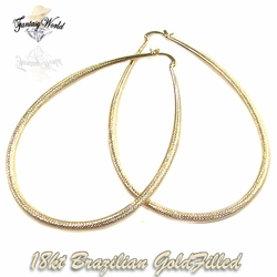 1-2754-C12 Diamond Cut Oversized Hoops