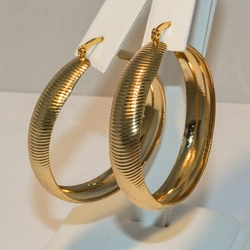 1-2743-e4 Large Ribbed Hoops 9x45mm