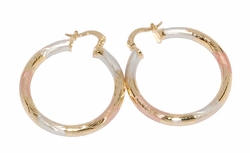 1-2767-D1 Three Tone Hoops