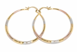 1-2769-D3 Three Tone Hoops