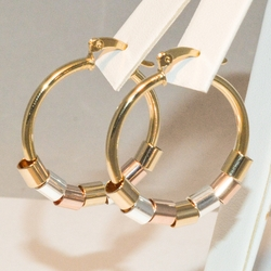 1-2774-e3 Classic 30mm Hoops with Three Tone Circles
