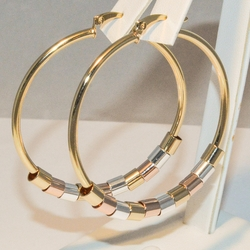 1-2778-e3 Classic 52mm Hoops with Three Tone Circles