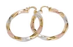 1-2779-D1 Three Tone Twist Hoops
