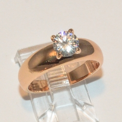 1-3040-e2 Solitaire CZ Ring (3 colors available)