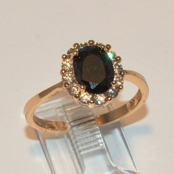 1-3070-e2 Jet Black CZ Ring